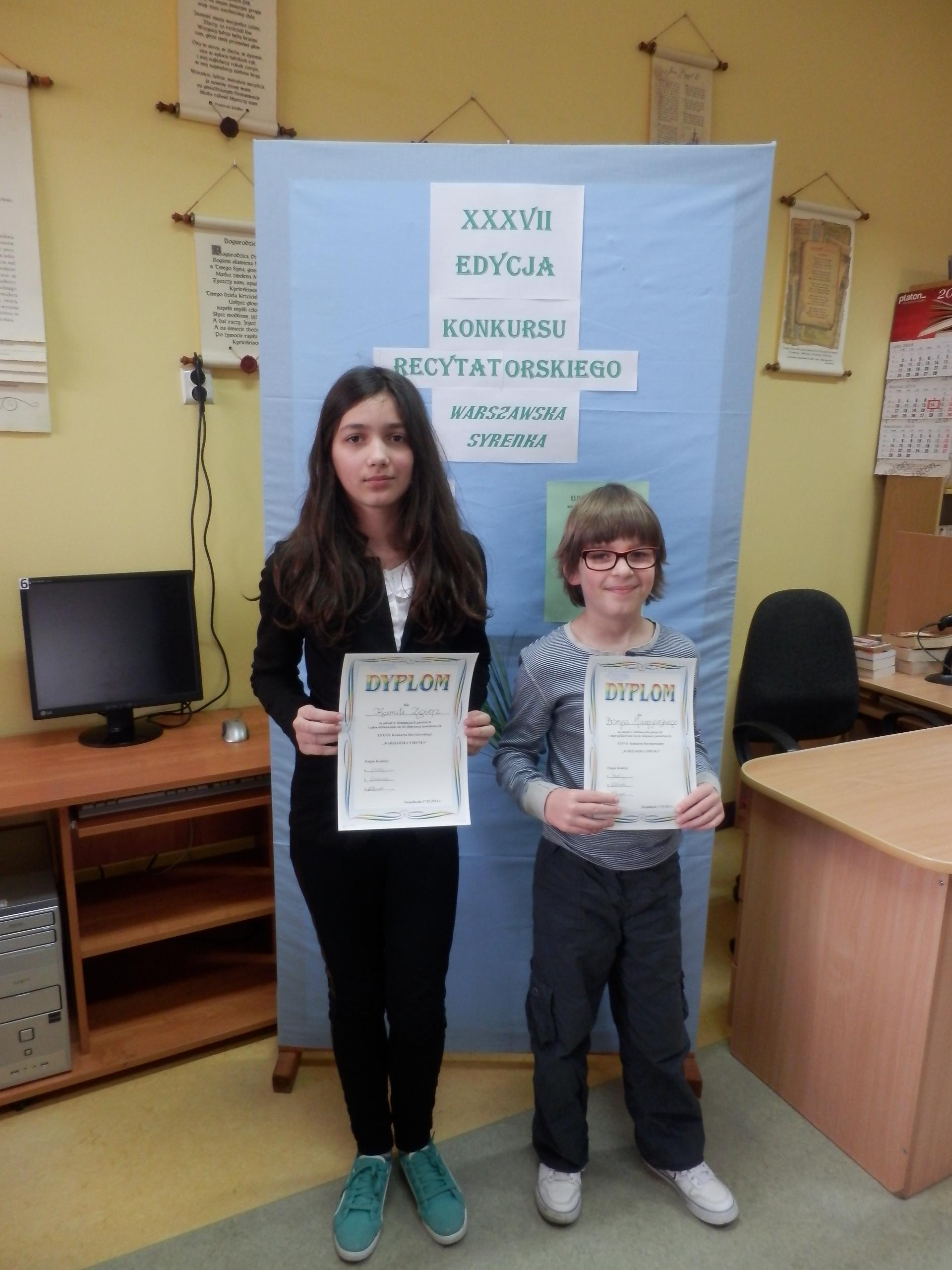 Więcej o Konkurs recytatorski Warszawska Syrenka 2014