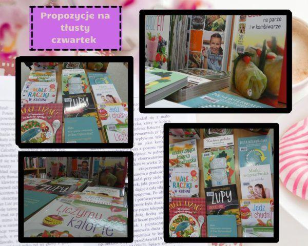 Kolaż zdjęć  książek kulinarnych