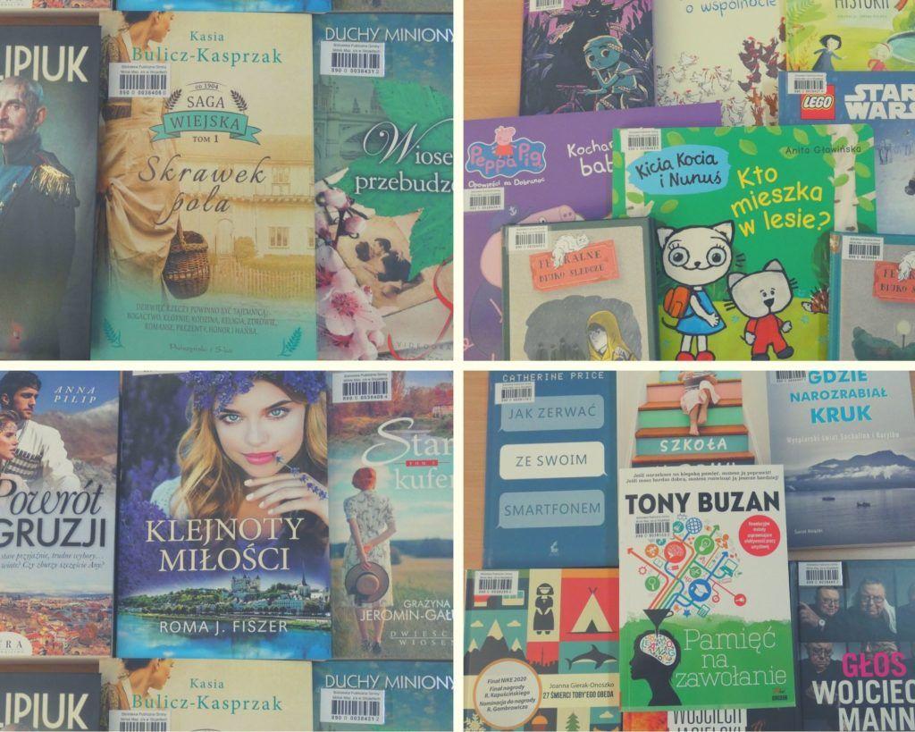 Nowości w bibliotece. Zdjęcia okładek książek